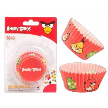 Lot 50 Caissettes Cupcakes Angry birds