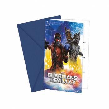 Lot 6 Invitations & Enveloppes Les Gardiens de la Galaxie