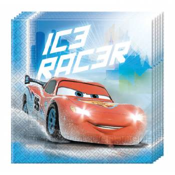 20 Serviettes Cars glace
