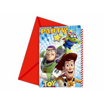 Lot 6 Invitations Enveloppes Toy Story