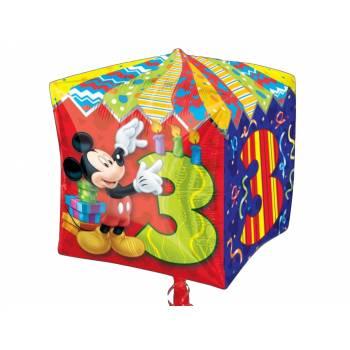 Ballon format Cube Age 3 Mickey Mouse