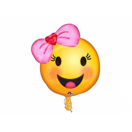 Ballon h lium emoticon fille noeud - Gonfler ballon sans helium ...