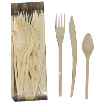 Couverts plastiques ivoire