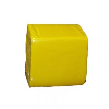 Serviettes cocktails jetables papier jaune