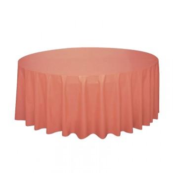 Nappe ronde jetable plastique corail