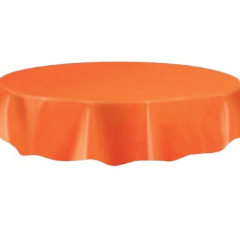 Nappe ronde jetable plastique orange