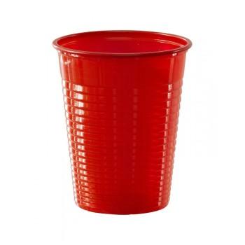 Gobelets plastique éco rouge