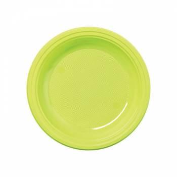 Assiettes dessert eco jetables vert anis