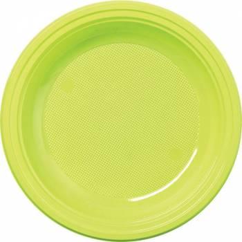 Assiettes eco jetables vert anis