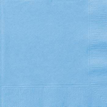 Serviettes jetables papier bleu bébé