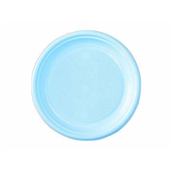 Assiettes dessert eco jetables bleu pastel