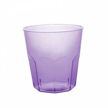 Gobelets plastique transparent lilas