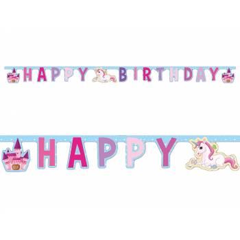 Guirlande Happy Birthday Licorne