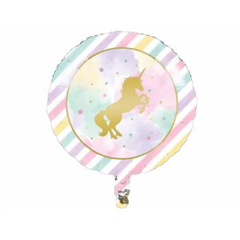 Ballon hélium licorne d'or