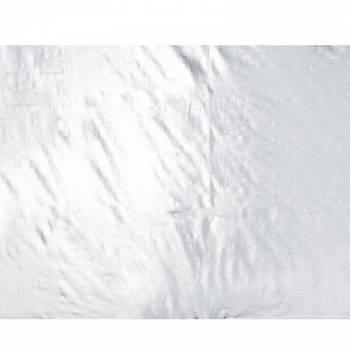 Nappe jetable plastique argent métallisé