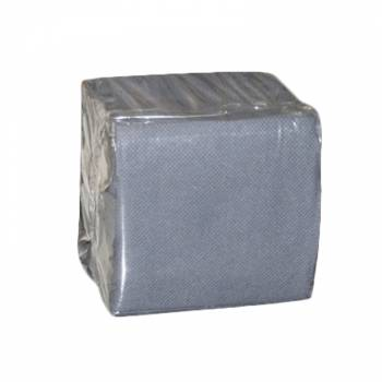 Serviettes cocktails jetables papier grise