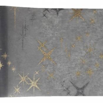 Chemin de table galaxy gris et or