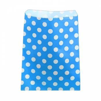 24 Pochettes papier pois turquoise