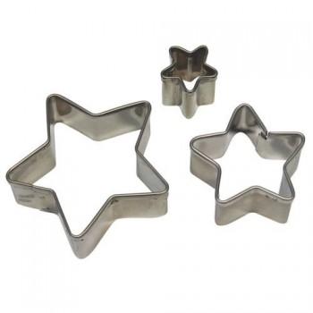 Kit 3 emporte pièces étoiles PME