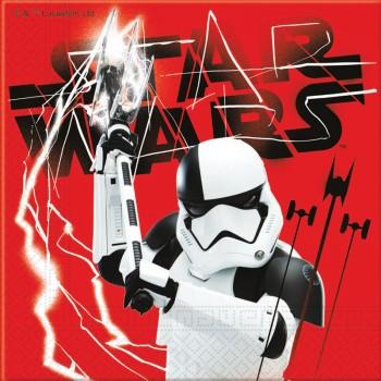 20 Serviettes en papier Star Wars Last Jedi BB8