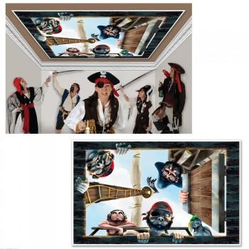Décoration pour plafond plastifiée Pirates