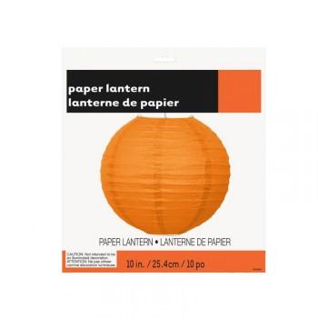 Lanterne à suspendre en papier orange 25cm