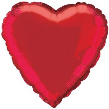 Ballon hélium coeur rouge