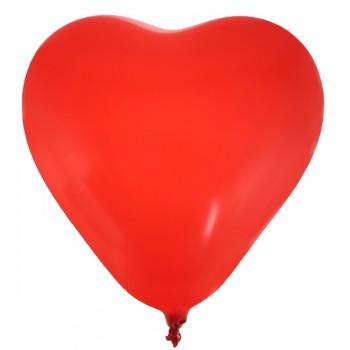 8 Ballons cœur rouge