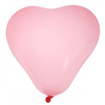8 Ballons cœur rose