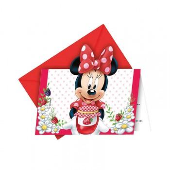 Invitation anniversaire Minnie jardin