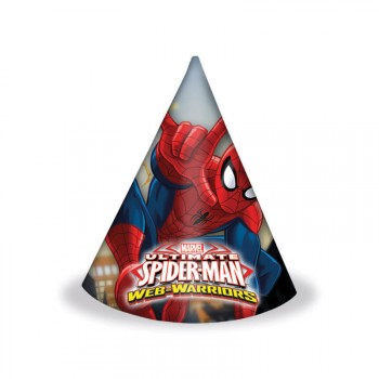 Lot 6 Chapeaux Spiderman Ultimate Web-Warriors en carton