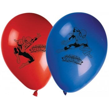 Lot 8 Ballons Spiderman en latex
