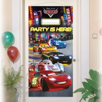 Décor de porte plastifié Cars Flash McQueen