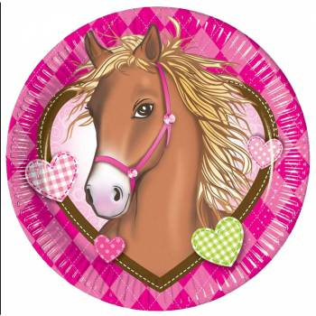 8 Assiettes Cheval d'amour