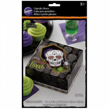 3 Boîtes 4 cupcakes Wilton Santa muerte