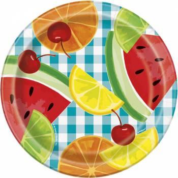 8 Assiettes dessert fruit party