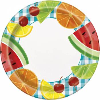 8 Assiettes fruit party