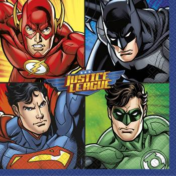 16 Serviettes Justice league