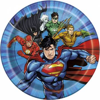 8 Assiettes dessert Justice league
