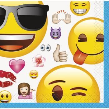 16 Serviettes dessert Emoji