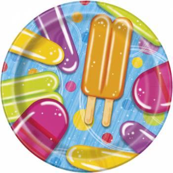 8 Assiettes dessert Ice cream party