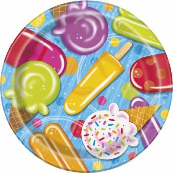8 Assiettes Ice cream party