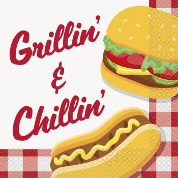 16 Serviettes burger party