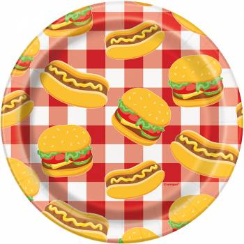 8 Assiettes dessert burger party