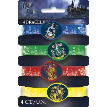 4 Bracelets ecole Harry potter