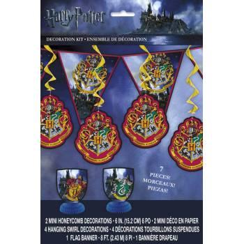 7 décors cartonnés Harry potter