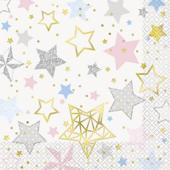 16 Serviettes Twinkle little star