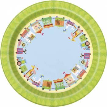 Petites assiettes Animaux du cirque - Deco Anniversaire.fr