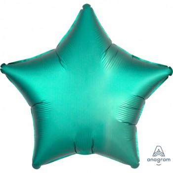 Ballon hélium satin luxe émeraude étoile