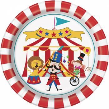 8 Assiettes dessert carnaval circus